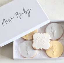 Load image into Gallery viewer, New Baby Cookie Gift Box - Bespoke Baby Co