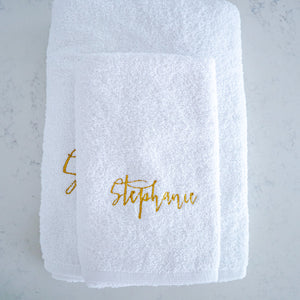Towel Set - Stephanie (Mettalic Gold) - Bespoke Baby Co