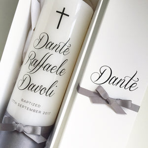 Printed Cross Candle - Bespoke Baby Co