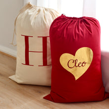 Load image into Gallery viewer, Red Personalised Santa Sack - Bespoke Baby Co