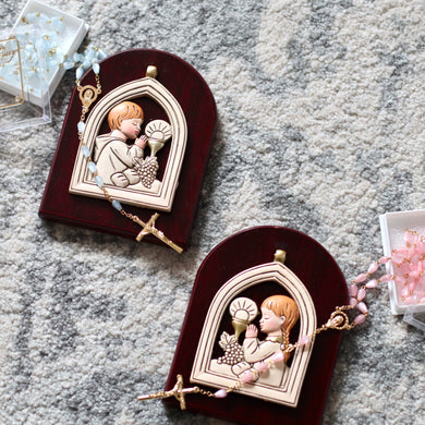 Communion Icon & Rosary Set