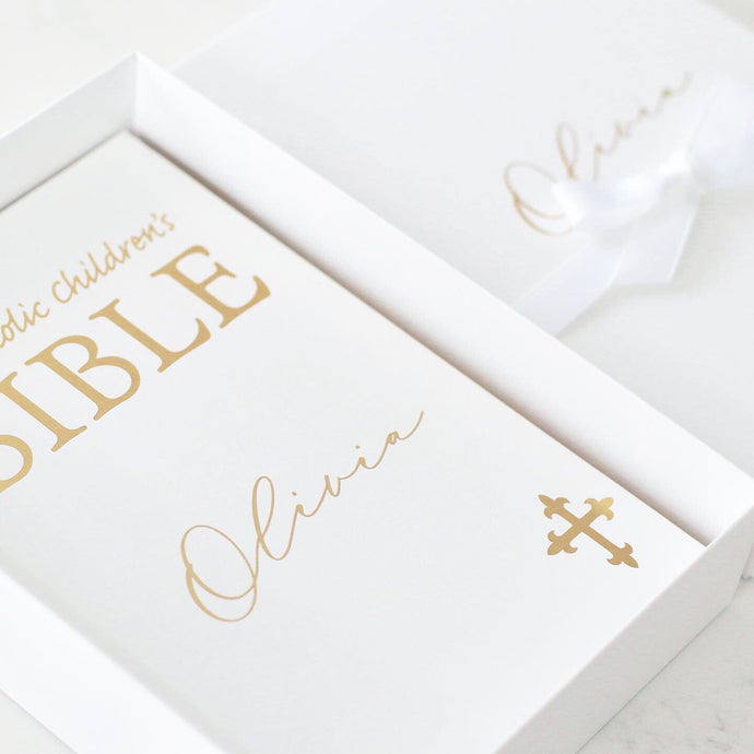 Catholic Child's First Bible ( Personalised) - Bespoke Baby Co