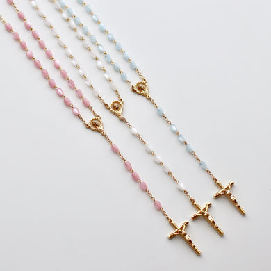Teardrop Rosary w/ Gold Hardware - Bespoke Baby Co