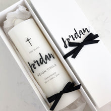 Load image into Gallery viewer, Printed Cross Candle - Bespoke Baby Co