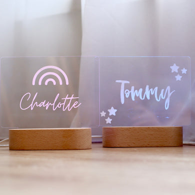 *PRE ORDER* Personalised Night Lights - Bespoke Baby Co