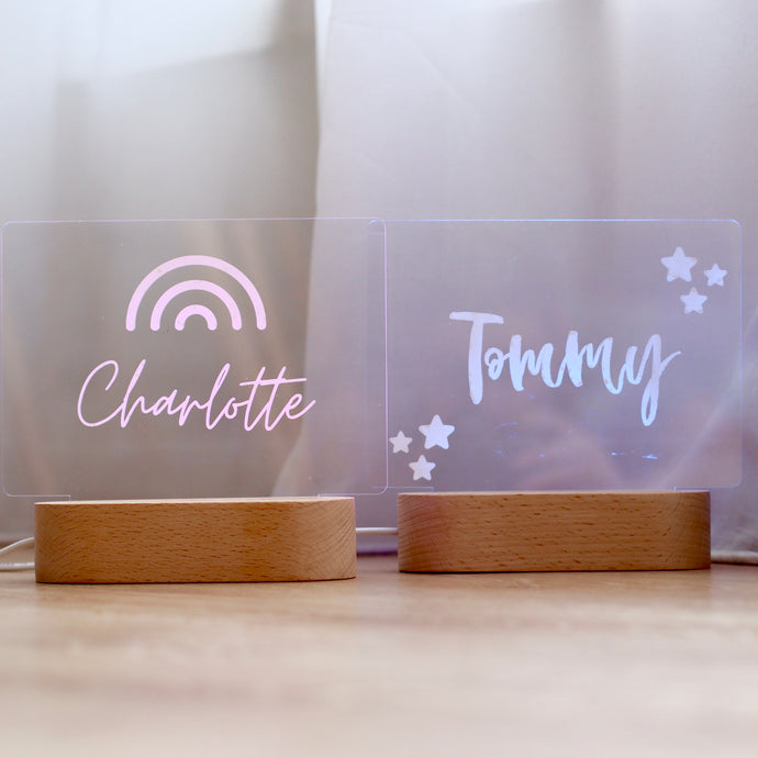 Personalised Night Light (Natural White) - Bespoke Baby Co