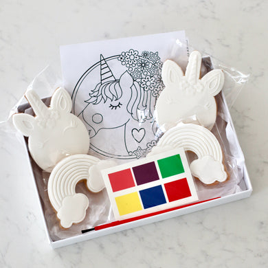 Paint Your Own Unicorn Cookie Kit - Bespoke Baby Co