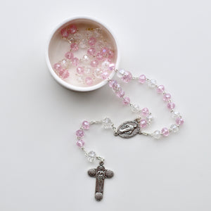 Crystal Rosary w/ Silver Hardware - Bespoke Baby Co