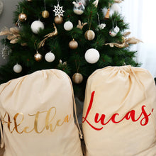Load image into Gallery viewer, Canvas Personalised Santa Sack - Bespoke Baby Co