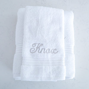 Towel Set - Knox (Grey) - Bespoke Baby Co