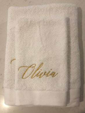Towel Set - Olivia (Mettalic Gold) - Bespoke Baby Co
