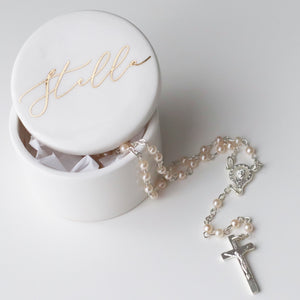 Rosary Trinket Box - Bespoke Baby Co