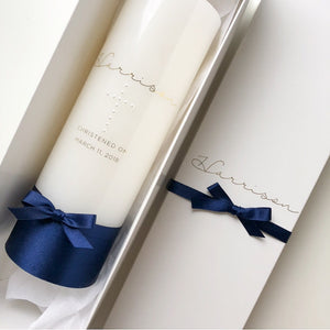 Pearl Cross Candle - Bespoke Baby Co