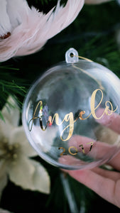 Personalised Fillable Baubles - Bespoke Baby Co