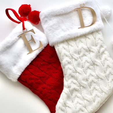 Initial Christmas Stocking - Bespoke Baby Co