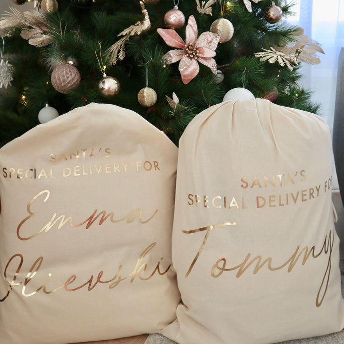 Canvas Personalised Santa Sack - Bespoke Baby Co