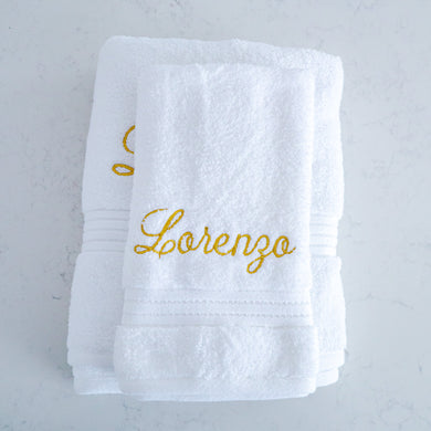 Towel Set - Lorenzo (Mettalic Gold) - Bespoke Baby Co