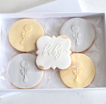 Load image into Gallery viewer, Congratulations Baby Cookie Gift Box - Bespoke Baby Co