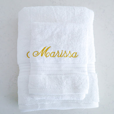 Towel Set - Marissa (Mettalic Gold) - Bespoke Baby Co