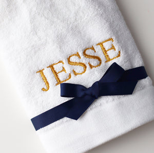 Embroidered Hand Towel - Bespoke Baby Co
