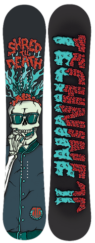 S.T.D SHRED TIL DEATH SNOWBOARD GREEN SKULL F19