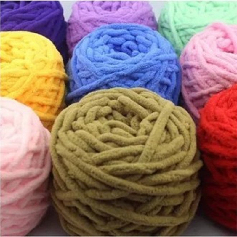 100g/pc Cotton Colorful Dye Scarf Hand-knitted Yarn For Hand knitting Scarf/Hat/Gloves Soft Milk Cotton Yarn Thick Wool Yarn
