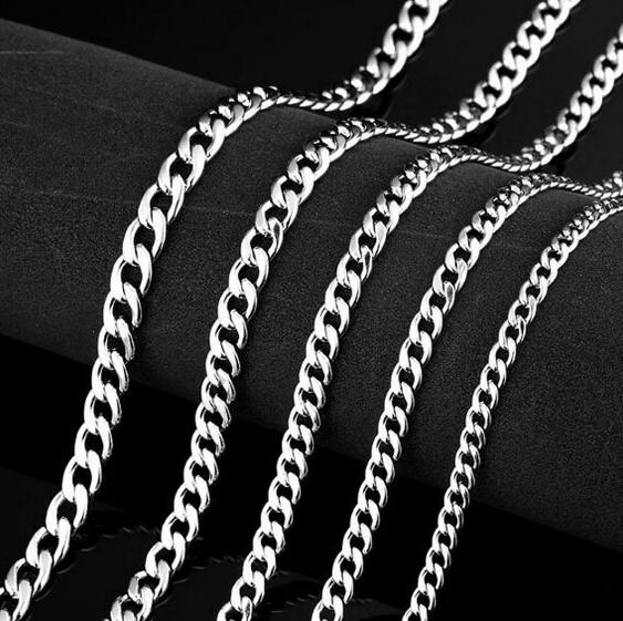 10m/Lot wholesale in bulk silver Stainless Steel Thin 3mm NK CHAIN Jewelry Finding Chain DIY Jewelry marking - Sissystreasurechest