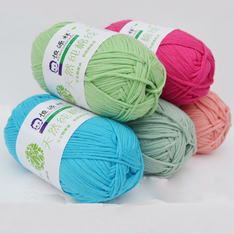 10pcs/set 16 shares 100% cotton Knitting threads baby sweater line ...