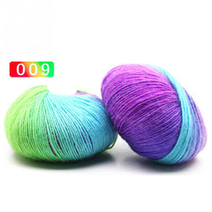 180M wool yarn Anti-pilling anti-shrink rainbow color Hand knitting yarn for knitting crochet No.10 needle 15 Color choosed
