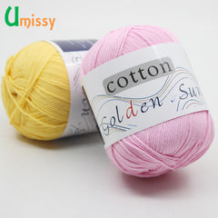 1pc 100% Cotton Knitting Yarn Crochet Yarn for Knitting Soft Smooth Natural Anti-Pilling 20 Colors