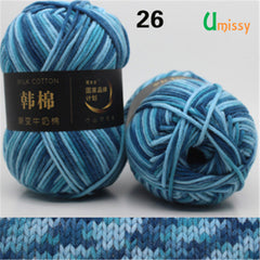 1pc 100g Fancy Milk Cotton Yarn Worsted Blended Crochet Yarn Knitting Sweater Scarf High Tenacity