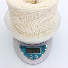 250g/pc White Non Bleached Original Ecology Healthy Cotton Knitted Yarn Baby Natural Soft Yarn for Crocheting Knitting - Sissystreasurechest