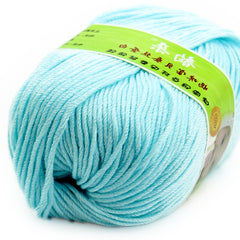 50g 1Pcs Soft Smooth Natural Bamboo Cotton Hand Knitting Yarn Baby Cotton Yarn Knitted