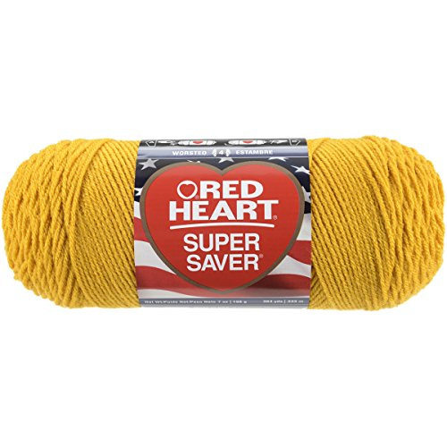 RED HEART E300.0321  Super Saver Yarn, Gold - Sissystreasurechest