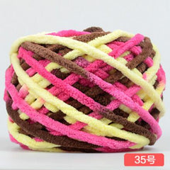 600g/bag/6pcs Hand Knitting Multicolor Thick Yarn knitting Cotton/Acrylic 7mm Thick Yarn Hat Scarf Sweater Children Warm Clothes