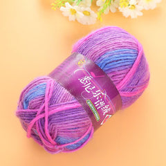 Colorful Dye Scarf Hand-knitted Yarn For Hand knitting Soft Milk Cotton Yarn Thick Wool Yarn 100g - Sissystreasurechest