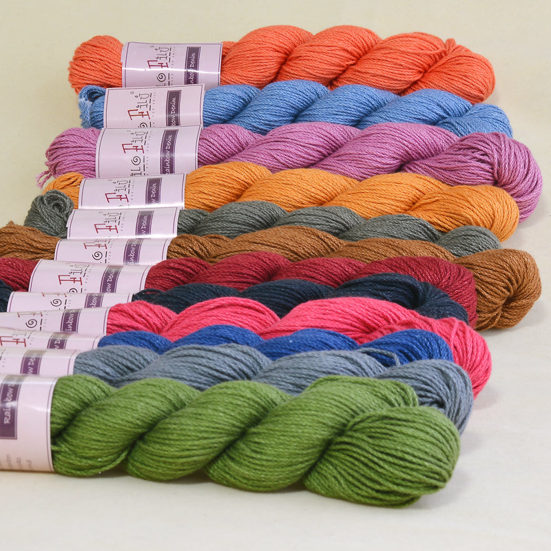 Filo Filu Brand colored cotton hank yarn natural milk cotton yarn for crocheting and hand knitting ,5pcs  250g/lot - Sissystreasurechest