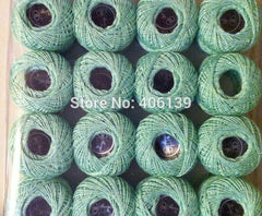 Free shipping 10 rolls 9s/2 100% cotton DIY good quality Stitch Embroidery thread crochet  thread Hand  cross variegated colors