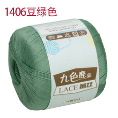 Free shipping 300g(50g*6pcs)100%Cotton To Lace Crochet Yarn Summer Wool Cotton Thread For Hand Knitting A
