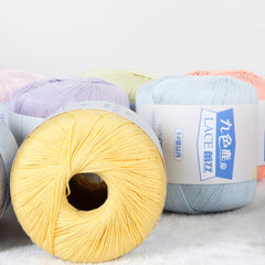 Free shipping 300g(50g*6pcs)  100%Cotton To Lace Crochet Yarn Summer Wool Cotton Thread For Hand Knitting 5#