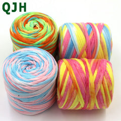 Multicolor 150g/ball  45 meters Hand Knitting Soft Cloth Yarn,Candy-colored Crochet Weaving Handbags&cushions yarn thread Craft - Sissystreasurechest