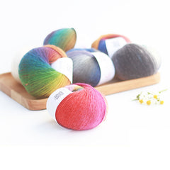 New 5balls/lot rainbow color hand knitting features wool yarn section space dye crochet yarn DIY knitting yarn for cape,Z3781