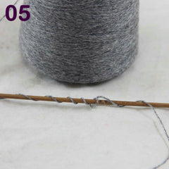 Sales 1X100g high quality 100% pure cashmere warm soft  hand-woven  tower  yarn Mom Gray 26205 - Sissystreasurechest