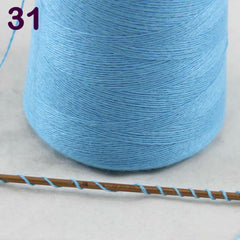Sales 1X100g high quality 100% pure cashmere warm soft  hand-woven  tower  yarn  SkyBlue  26231 - Sissystreasurechest