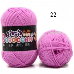 Soft Skin-Friendly Milk Cotton Yarn Blended Yarn for Knitting Doll Sweater 50g/pc 500g/Lot Free Shipping
