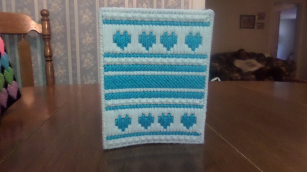 Tissue Box Cover Turquoise Hearts, Bathroom Accessories, Tissue Topper - Sissystreasurechest