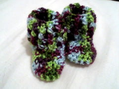 muticolor baby booties