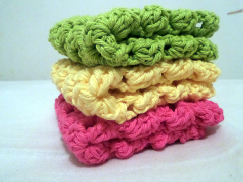 Crochet Cotton Washcloth / Dishcloth