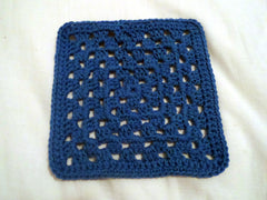 blue granny square crochet dishcloths