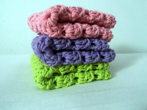 Crochet Granny Square Wash Clothes, baby accessories, Bath Accessories